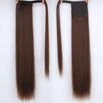 CHICSHE 16 Colors Available High Temperature Fiber Synthetic Hair Wraparound Ponytail Extensions for Women - 4/30#  /