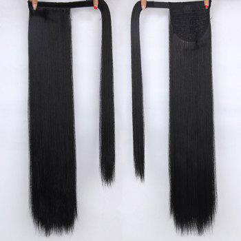 CHICSHE 16 Colors Available High Temperature Fiber Synthetic Hair Wraparound Ponytail Extensions for Women - #1B  B