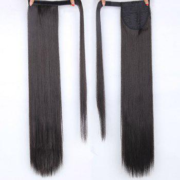 CHICSHE 16 Colors Available High Temperature Fiber Synthetic Hair Wraparound Ponytail Extensions for Women - 2#