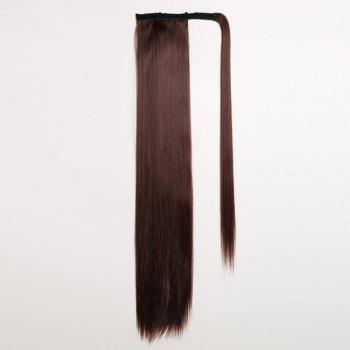 CHICSHE 16 Colors Available High Temperature Fiber Synthetic Hair Wraparound Ponytail Extensions for Women - 33#