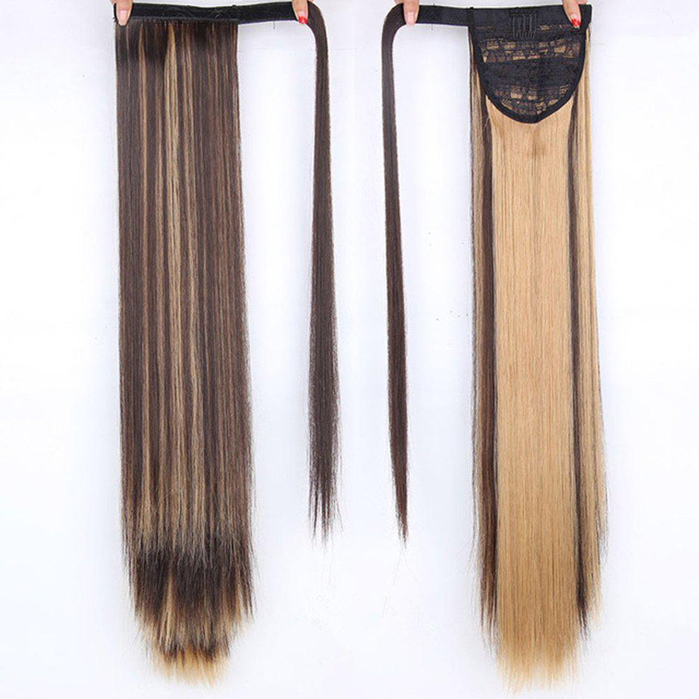 CHICSHE 16 Colors Available High Temperature Fiber Synthetic Hair Wraparound Ponytail Extensions for Women - H