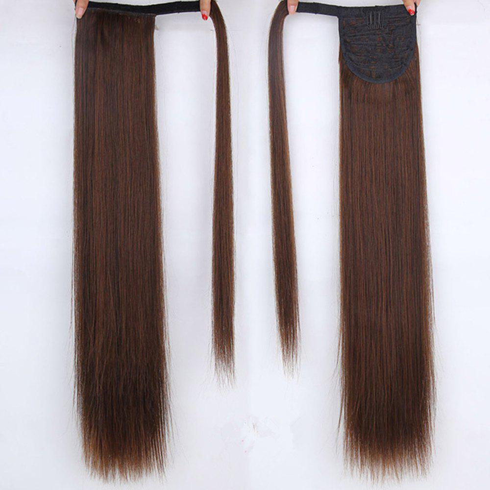 CHICSHE 16 Colors Available High Temperature Fiber Synthetic Hair Wraparound Ponytail Extensions for Women - /