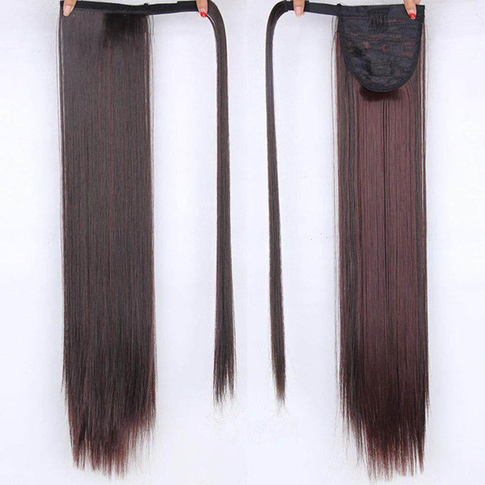 CHICSHE 16 Colors Available High Temperature Fiber Synthetic Hair Wraparound Ponytail Extensions for Women -