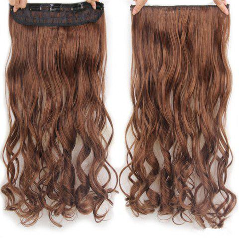 CHICSHE 17 Colors Long Wavy High Temperature Fiber Synthetic Clip in Hair Extensions for Women - 4/30