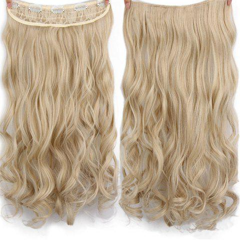 CHICSHE 17 Colors Long Wavy High Temperature Fiber Synthetic Clip in Hair Extensions for Women - 24 613
