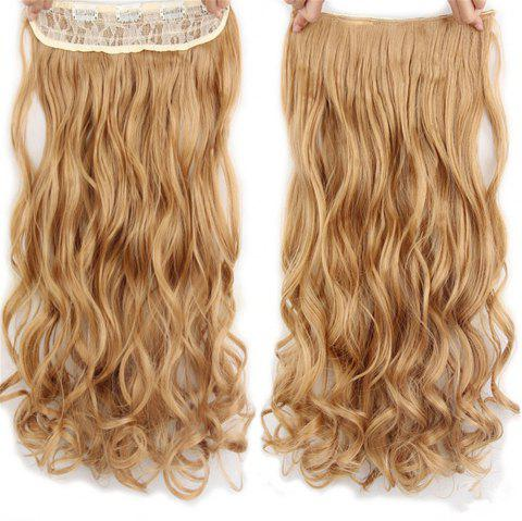 CHICSHE 17 Colors Long Wavy High Temperature Fiber Synthetic Clip in Hair Extensions for Women - 27