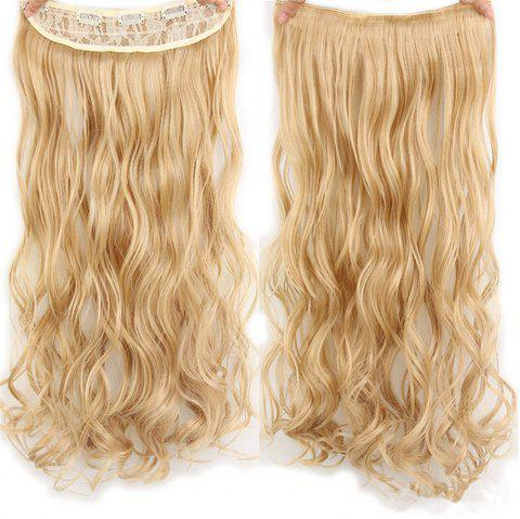 CHICSHE 17 Colors Long Wavy High Temperature Fiber Synthetic Clip in Hair Extensions for Women - 27/613