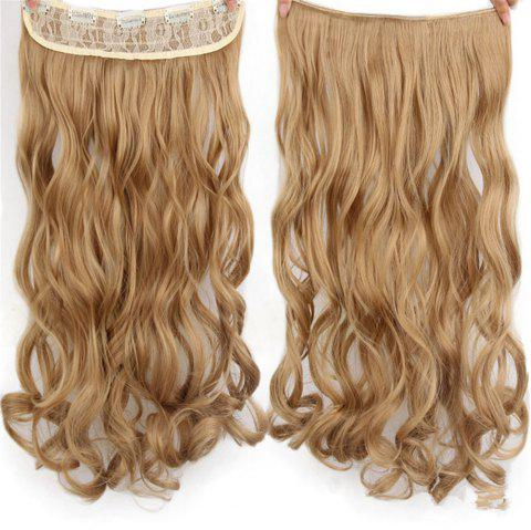 CHICSHE 17 Colors Long Wavy High Temperature Fiber Synthetic Clip in Hair Extensions for Women - 24/27