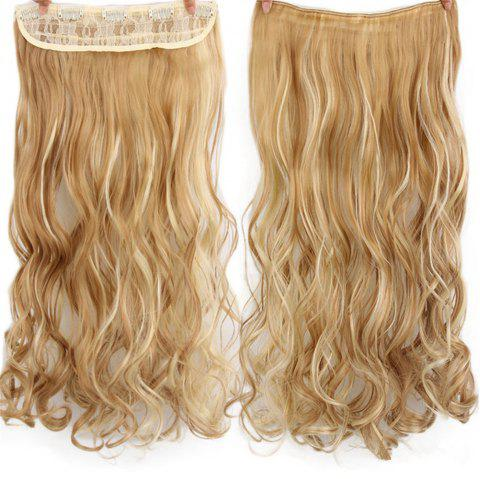 CHICSHE 17 Colors Long Wavy High Temperature Fiber Synthetic Clip in Hair Extensions for Women - 27H613