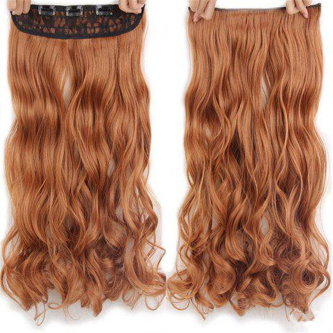 CHICSHE 17 Colors Long Wavy High Temperature Fiber Synthetic Clip in Hair Extensions for Women - 30