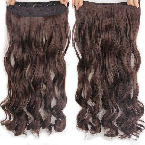 CHICSHE 17 Colors Long Wavy High Temperature Fiber Synthetic Clip in Hair Extensions for Women - 4