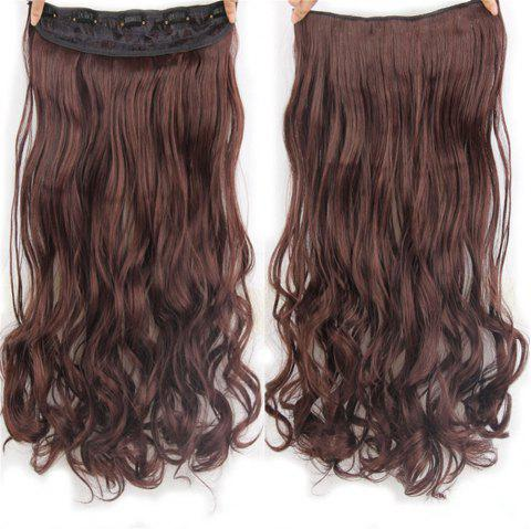 CHICSHE 17 Colors Long Wavy High Temperature Fiber Synthetic Clip in Hair Extensions for Women - 2/33