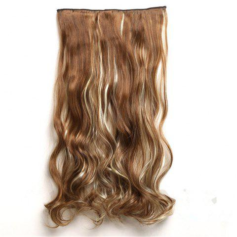 CHICSHE 17 Colors Long Wavy High Temperature Fiber Synthetic Clip in Hair Extensions for Women - 12