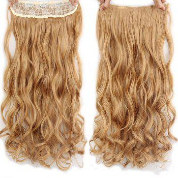 CHICSHE 17 Colors Long Wavy High Temperature Fiber Synthetic Clip in Hair Extensions for Women - 27#