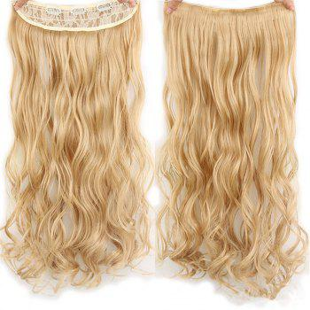 CHICSHE 17 Colors Long Wavy High Temperature Fiber Synthetic Clip in Hair Extensions for Women - 27/613#  /