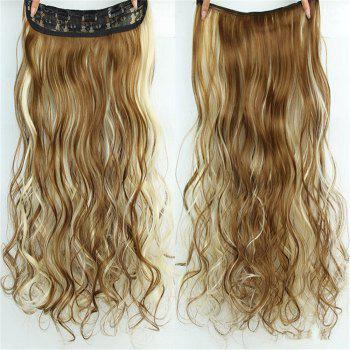 CHICSHE 17 Colors Long Wavy High Temperature Fiber Synthetic Clip in Hair Extensions for Women - 6H613  H