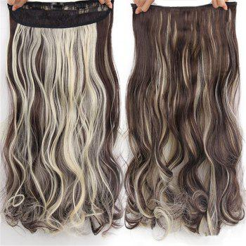 CHICSHE 17 Colors Long Wavy High Temperature Fiber Synthetic Clip in Hair Extensions for Women - 13#