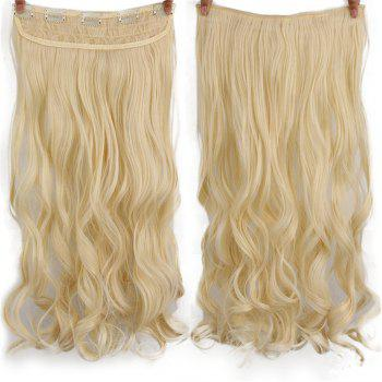 CHICSHE 17 Colors Long Wavy High Temperature Fiber Synthetic Clip in Hair Extensions for Women - 613#