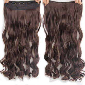 CHICSHE 17 Colors Long Wavy High Temperature Fiber Synthetic Clip in Hair Extensions for Women - 4#