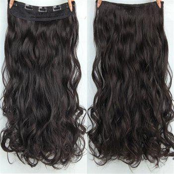 CHICSHE 17 Colors Long Wavy High Temperature Fiber Synthetic Clip in Hair Extensions for Women - 2#