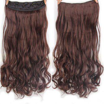 CHICSHE 17 Colors Long Wavy High Temperature Fiber Synthetic Clip in Hair Extensions for Women - 2/33#  /