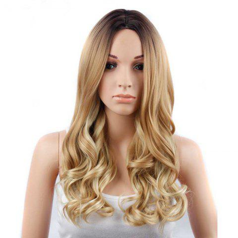 CHICSHE 26 inch Blonde Ombre Wig Synthetic Long Wavy Natural Hair - 1
