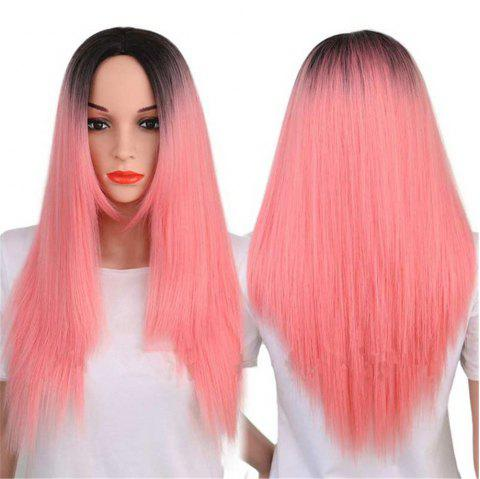 CHICSHE Synthetic Ombre Red Wigs Long Straight Cosplay Grey Hair Free Shipping - 3