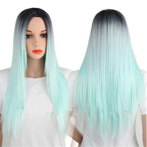 CHICSHE Synthetic Ombre Red Wigs Long Straight Cosplay Grey Hair Free Shipping - 7