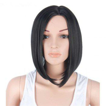 CHICSHE Synthetic Short Wigs for Black Women Black Bob Pixie Cut Hair - 1