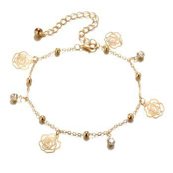 Small Bells Copper Beads Butterfly Anklets - GOLDEN GOLDEN