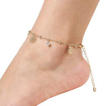 Small Bells Copper Beads Butterfly Anklets -  GOLDEN