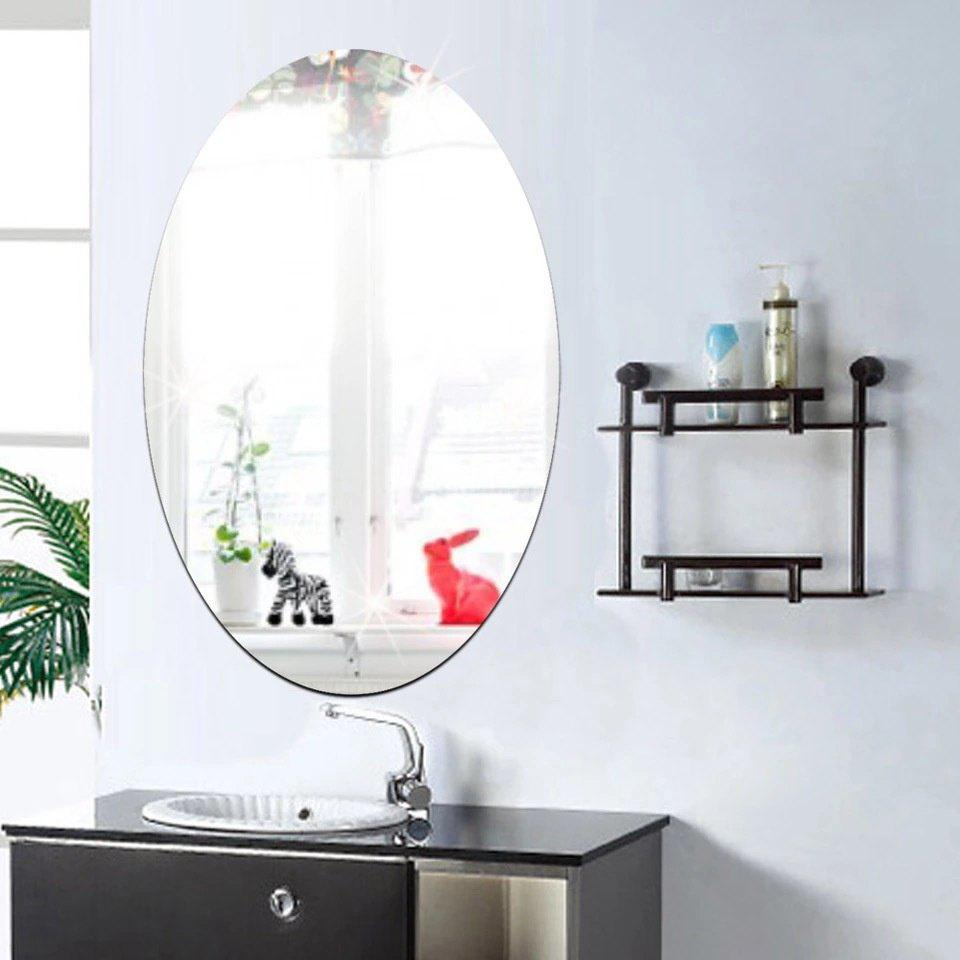 Direct Manufacturers 30*60cm Explosion Models of Elliptical Mirror Wall Stickers Home Furnishing Decorative Bathroom Mirror - AS THE PICTURE