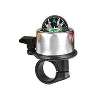 Mountain Bike Bell Bicycle Aluminum Alloy Horn - SILVER SILVER