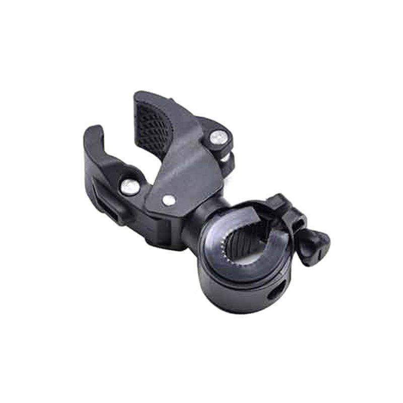 Bicycle Mountain Bike Flashlight Holder Fixed Bracket - BLACK