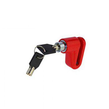 Mountain Bike Disc Brake Safety Anti-theft Lock Cycling Equipment Bicycle Accessories - RED