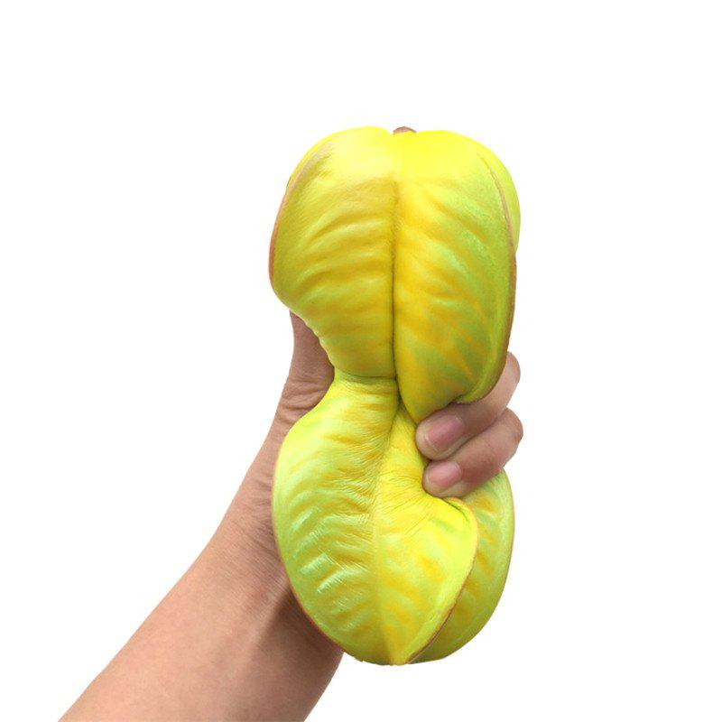 17CM Height Carambola Soft Slow Rising Toy Made By Enviromental PU Material - YELLOW
