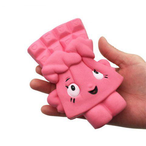 Chocolate Bread Soft Slow Rising Toy Made By Enviromental PU Material - PINK