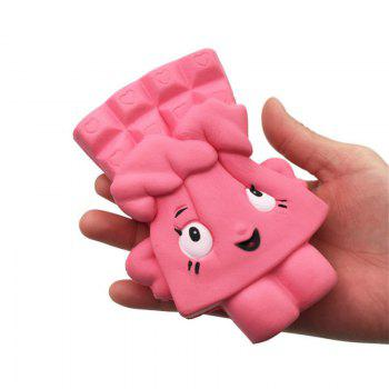Chocolate Bread Soft Slow Rising Toy Made By Enviromental PU Material - PINK PINK