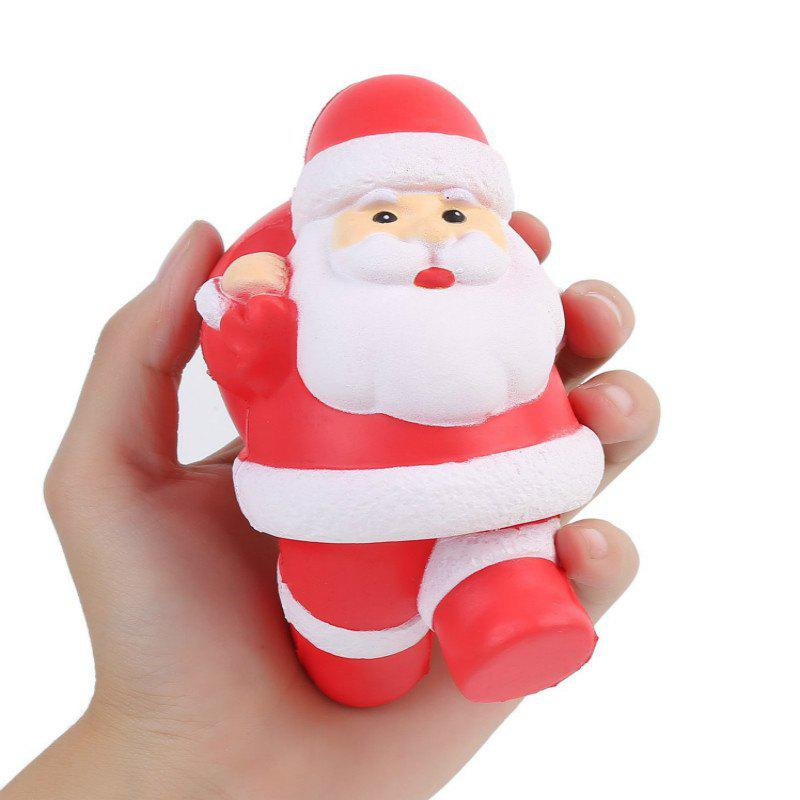 Squishys Slow Rising Stress Relief Soft Toys Santa Claus Style - RED