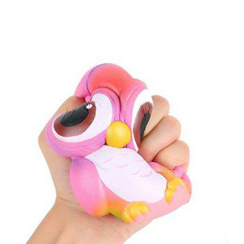 Squishys Slow Rising Soulagement du stress Soft Toys Replica Owl - Violacé rouge