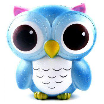Squishys Slow Rising Stress Relief Soft Toys Replica Owl - BLUE