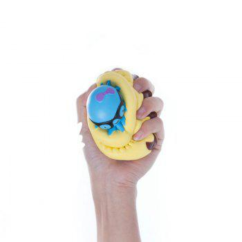 Slow Rising Stress Relief Toy Made By Enviromental PU Replica Octopus Cake - YELLOW