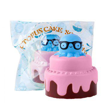 Slow Rising Stress Relief Toy Made By Enviromental PU Replica Octopus Cake -  PINK