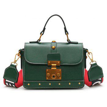Lock laptop Contrast Color Rivet Messenger Bag
