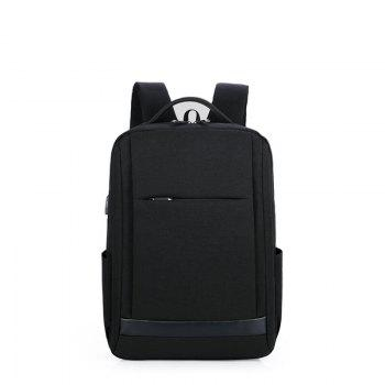 Men and ladies business backpack computer bag 15.6 inch shoulder bag  student backpack - BLACK BLACK