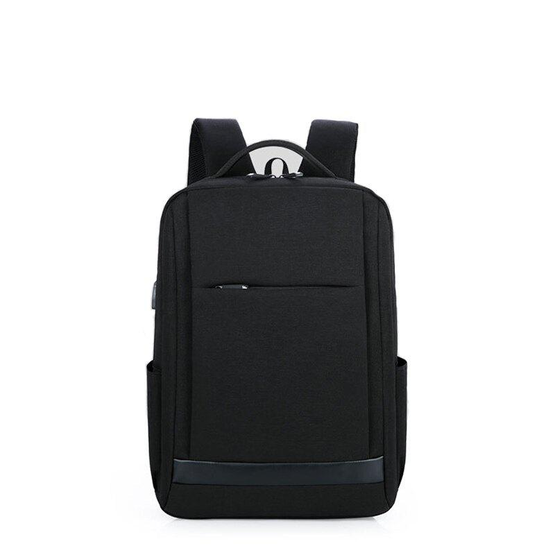 Men and ladies business backpack computer bag 15.6 inch shoulder bag  student backpack - BLACK VERTICAL