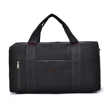 The Large Capacity of Men's Fashion Canvas Bag - BLACK BLACK