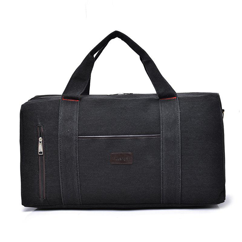 The Large Capacity of Men's Fashion Canvas Bag - BLACK
