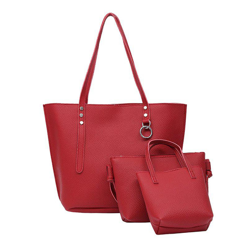 One Shoulder Slanted Spanning Lady's Backpack - RED