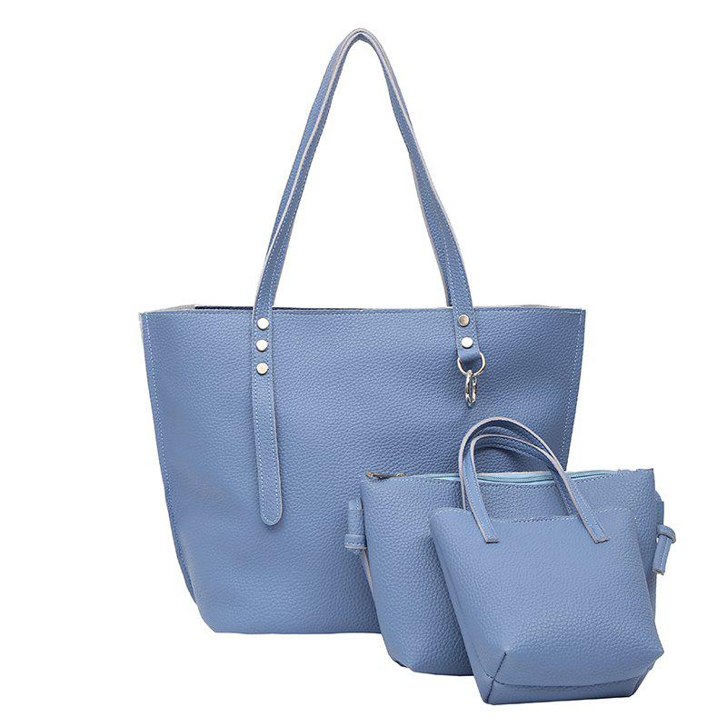 One Shoulder Slanted Spanning Lady's Backpack - BLUE